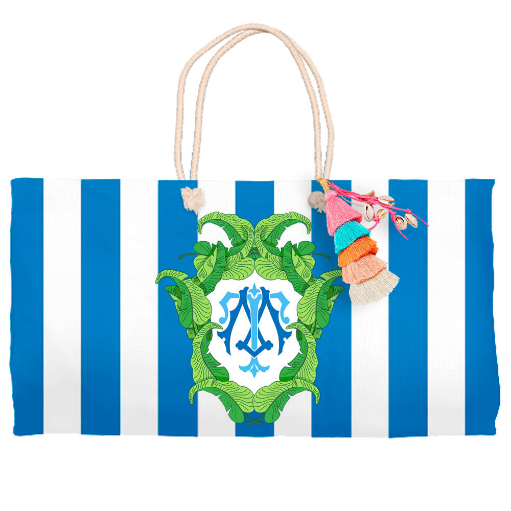 Banana Leaf Crest, Aegean, Tote Bag