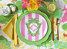 "Load image into Gallery viewer, Set of (4) Banana Leaf, Flamingo, 10"" Dia. Plates"