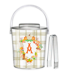 Custom Fall Crest, Taupe, 3 Qt. Acrylic Ice Bucket