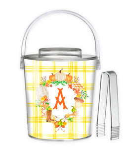 Custom Fall Crest, Butternut, 3 Qt. Acrylic Ice Bucket