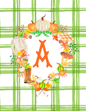 Custom Fall Crest Personalized Folded Note Cards, Foliage