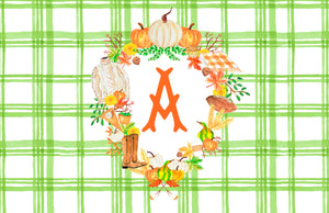Custom Fall Crest Paper Tear-away Placemat Pad, Foliage