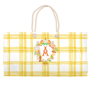 Custom Fall Crest, Butternut, Tote Bag