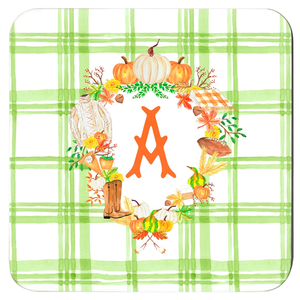 Fall Custom Crest Cork Backed Coasters - Set of 4, Foliage