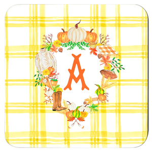 Fall Custom Crest Cork Backed Coasters - Set of 4, Butternut