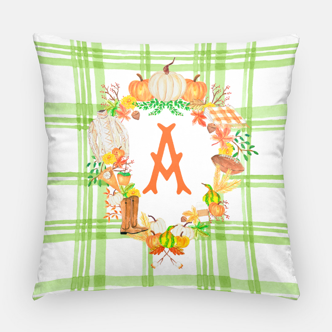 Custom Fall Crest Personalized Pillow, Foliage
