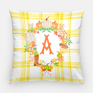Custom Fall Crest Personalized Pillow, Butternut
