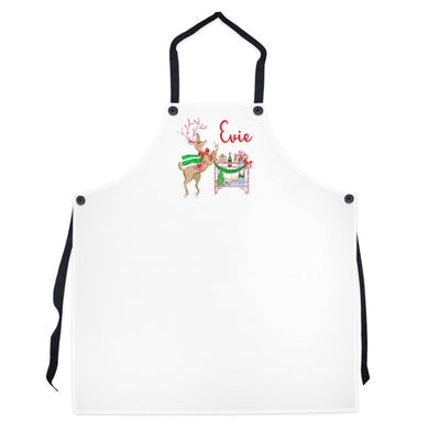 Blitzen & Bubbles Personalized Christmas Apron
