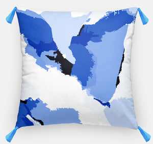 Navy Abstract Pillow