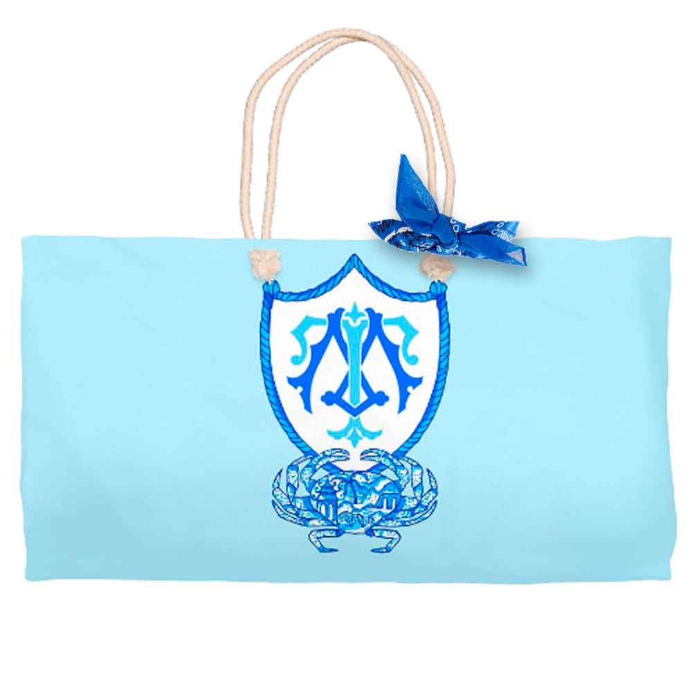 Chinois Crab Crest Tote Bag, Seashore