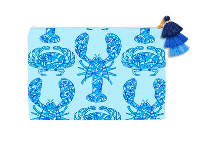 Chinois Lobsters & Crabs, Seashore, Cosmetic Bag
