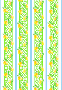 Lemon Trellis Gift Wrap