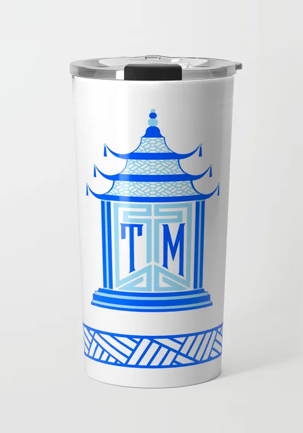 Royal Pagoda, Sapphire, Stainless Steel Travel Tumbler