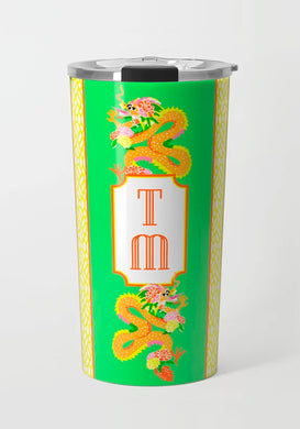 Dragon Crest Stainless Steel Travel Tumbler, Bamboo