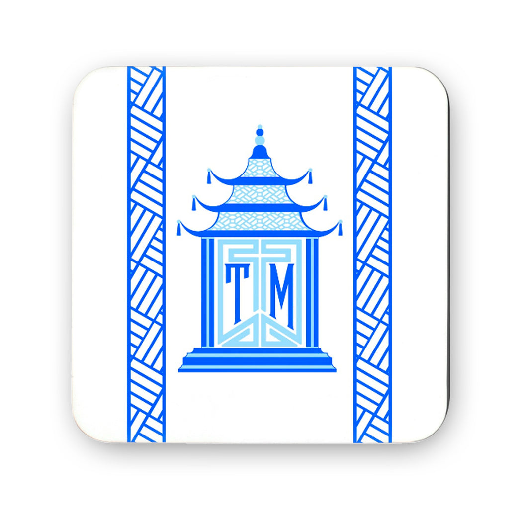 Royal Pagoda, Sapphire, Cork Backed Coasters - Set of 4