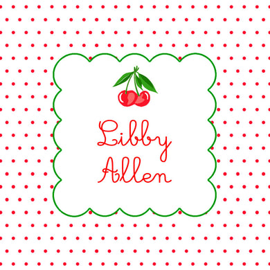 Dotted Cherry Personalized Sticker Labels