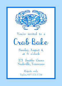 Chinois Crab Invitation