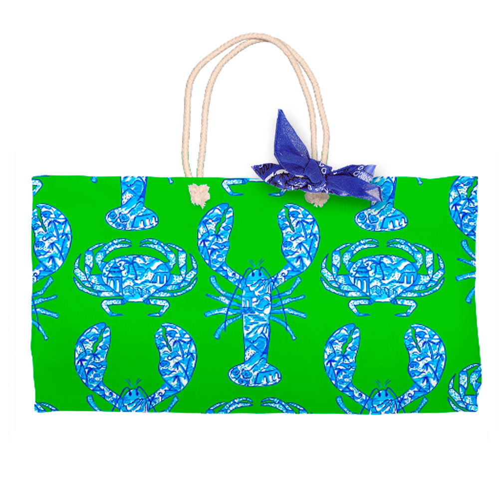 Chinois Lobsters & Crabs, Fern, Tote Bag