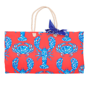 Chinois Lobsters & Crabs, Geranium, Tote Bag