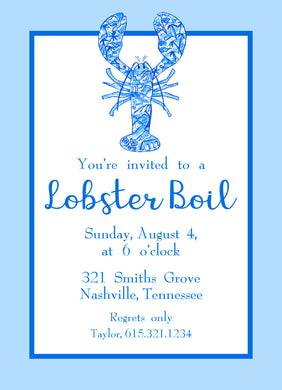 Chinois Lobster Invitation