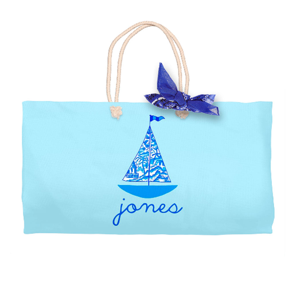 Chinois Sailboat, Seashore, Tote Bag