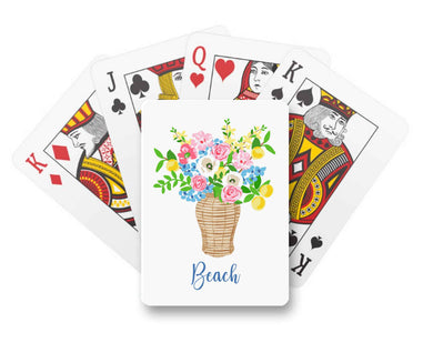 Summer's Bounty Personalized Playing Cards
