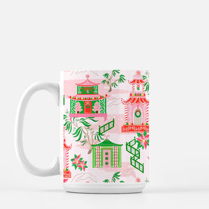 Chinoiserie Wonderland Porcelain Christmas Mug
