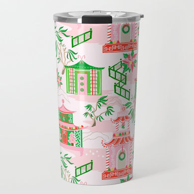 Chinoiserie Wonderland Christmas Travel Tumbler