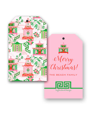 Chinoiserie Wonderland Personalized Christmas Hang Tags