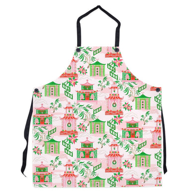 Chinoiserie Wonderland Christmas Apron