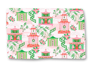 Chinoiserie Wonderland Christmas Lightweight Cotton Rug