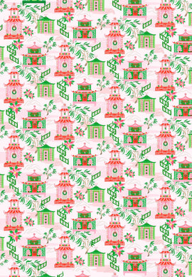 Chinoiserie Wonderland Christmas Gift Wrap Sheets