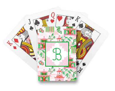 Chinoiserie Wonderland Personalized Christmas Playing Cards