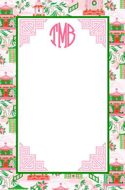 Chinoiserie Wonderland Christmas Notepad, Multiple Sizes Available
