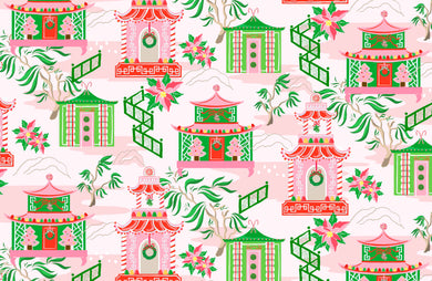 Chinoiserie Wonderland Christmas Paper Tear-away Placemat Pad