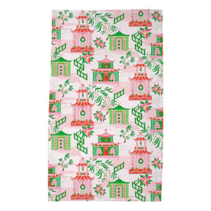 Chinoiserie Wonderland Poly Twill Christmas Tea Towels, Set of 2