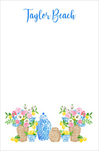 Summer's Bounty Personalized Notepad, Multiple Sizes Available