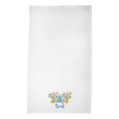 Summer's Bounty Personalized Poly Twill Tea Towels, Set of 2