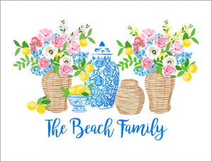 Summer's Bounty Personalized Gift Sticker Label, Set of 24