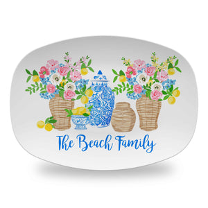 Summer's Bounty Personalized Melamine Platter