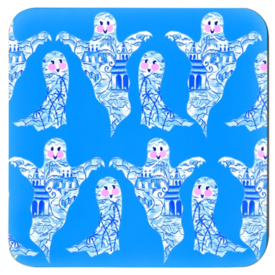 Chinoiserie Ghosts Coasters - Set of 4 - Three Colors Available