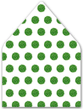 Load image into Gallery viewer, Boxwood Holiday Balls A7 Patterned Envelope Liners