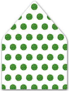 Boxwood Holiday Balls A9 Patterned Envelope Liners