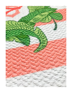 Tropicana Banana Leaf Crest Cotton Rug, (4) Sizes Available