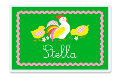 Cockadoodle Doo Children's Personalized Laminated Placemat