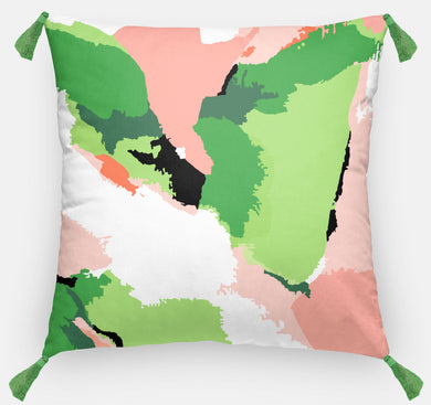 Coral Abstract Pillow