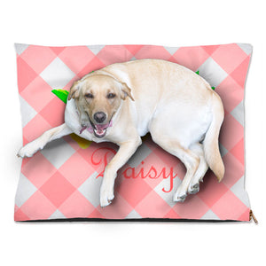 Lovely Lemon, Peach Tea, Personalized Pet Bed, (3) Sizes Available