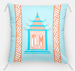 "Royal Pagoda Personalized Pillow, Moonstone,18""x18"" or 20""x20"""