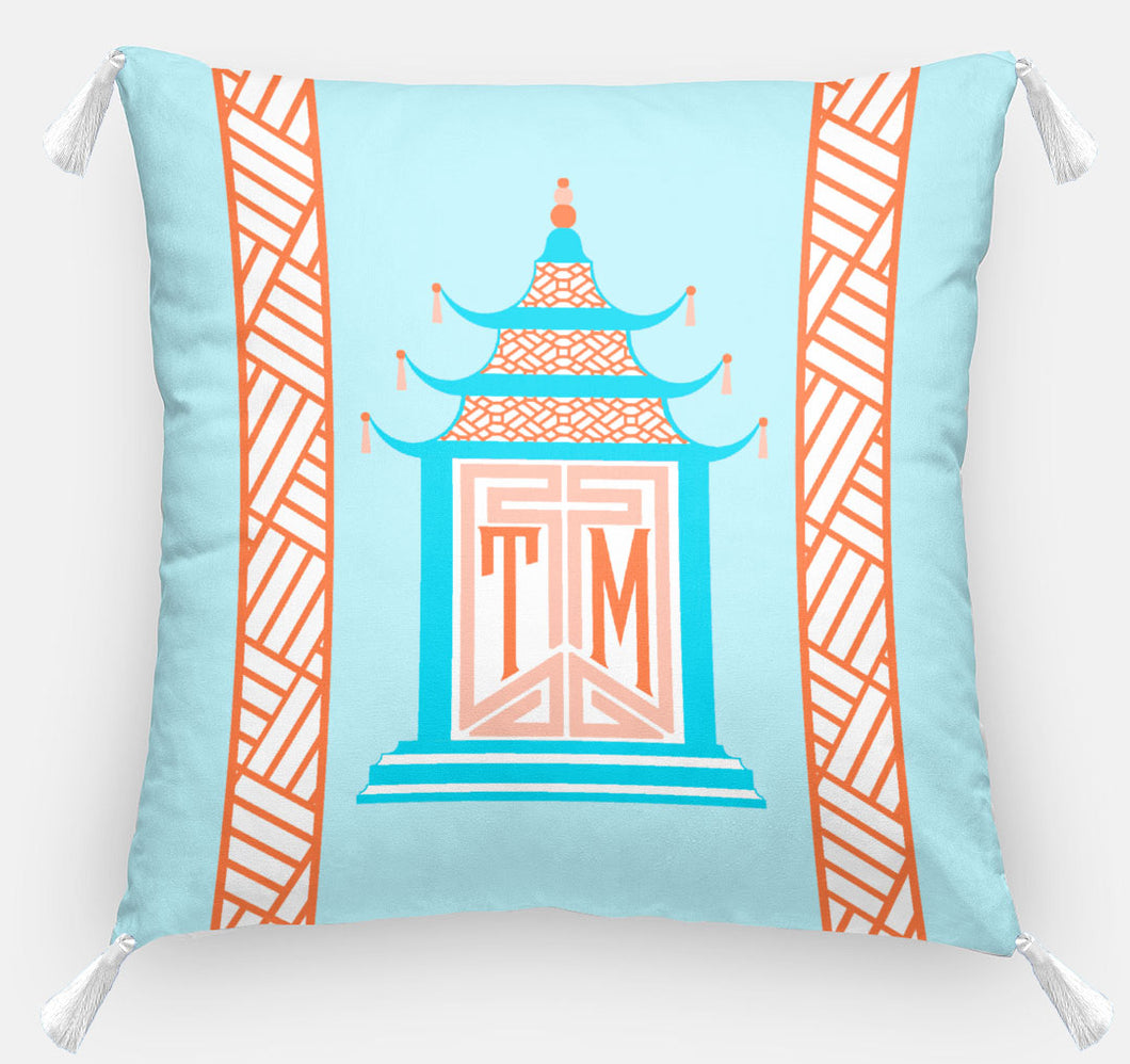 Royal Pagoda Personalized Pillow, Moonstone,18