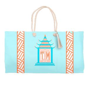 Royal Pagoda, Moonstone, Tote Bag